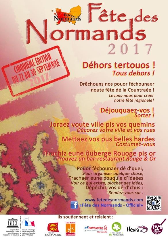 Affiche Fete Des Normands 2017 - normand-francais