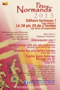 Tract Fete Des Normands 2013 - normand-francais