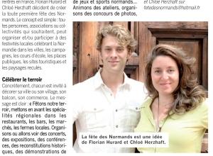 Article dans Côté Caux