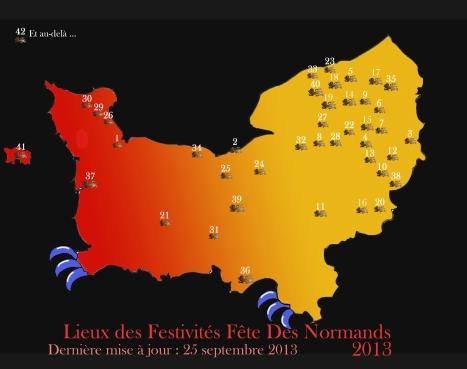 Carte Participants Fete Des Normands 2013 (2)