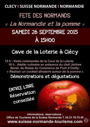 Affiche Fête des Normands à la Cave de la Loterie