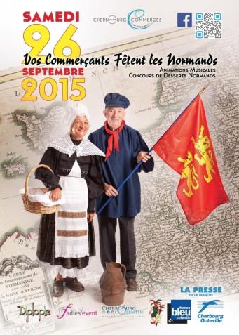 Les commerçants de Cherbourg célèbrent laFête Des Normands 2015