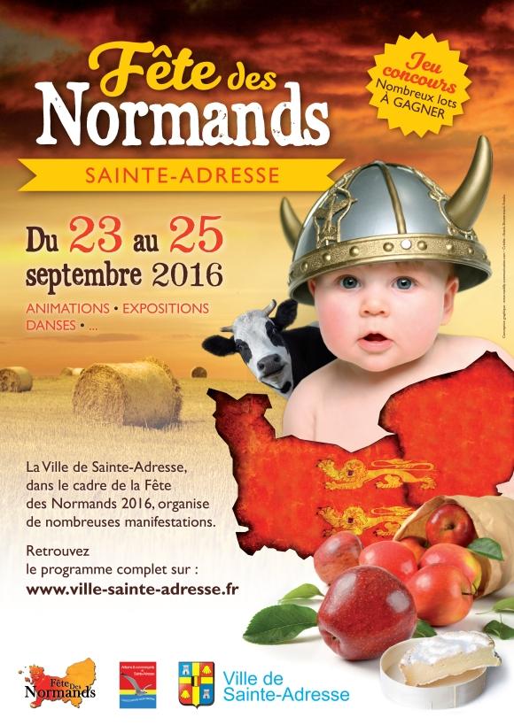Affiche Fête Des Normands 2016 à Sainte-Adresse