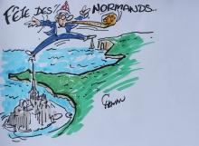 Fête Des Normands. Dessin de Chaunu. http://www.chaunu.fr/