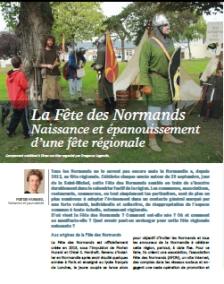 Page article fête des normands