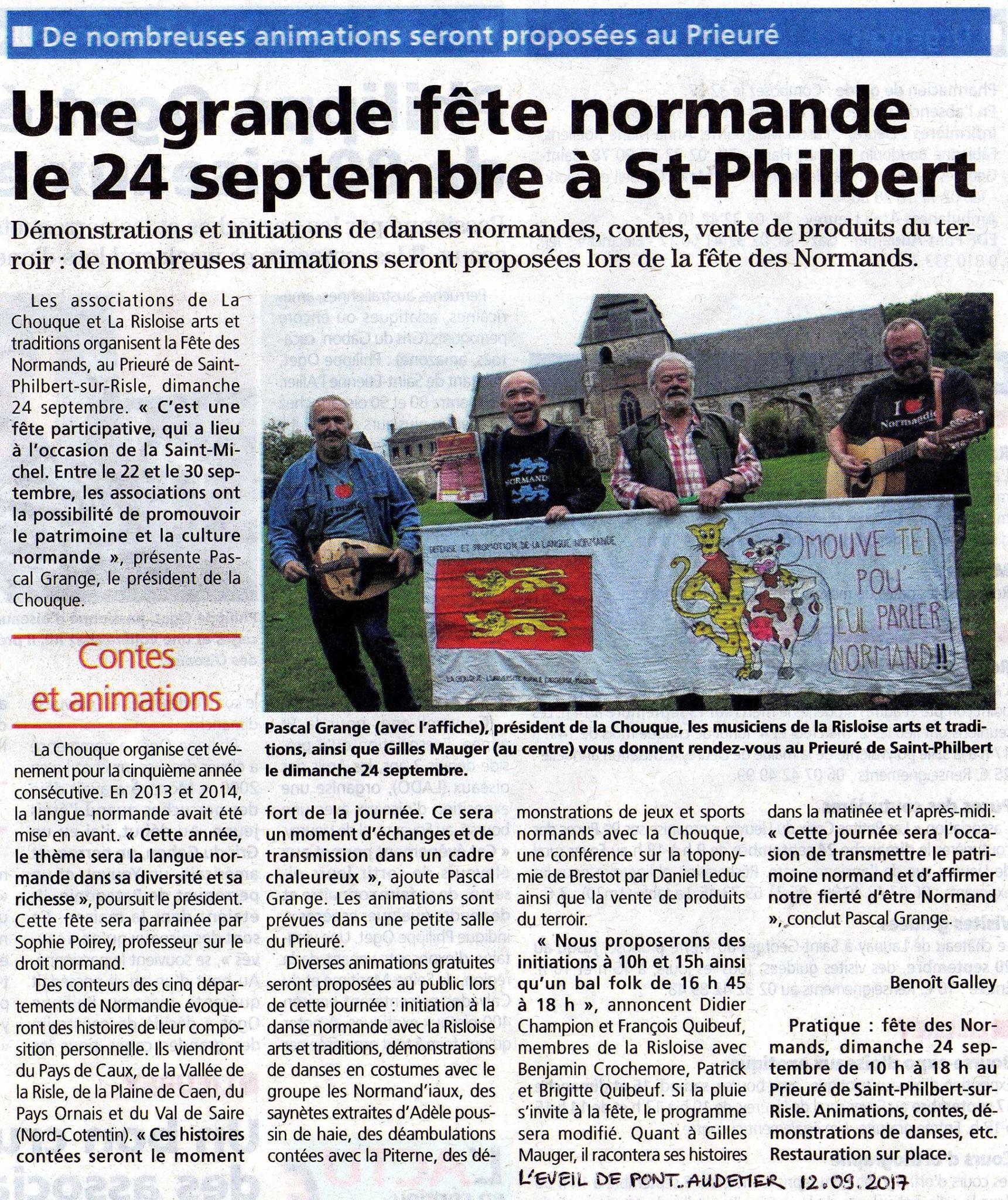 L Eveil De Pont Audemer 12 09 2017 Fete Des Normands 2019