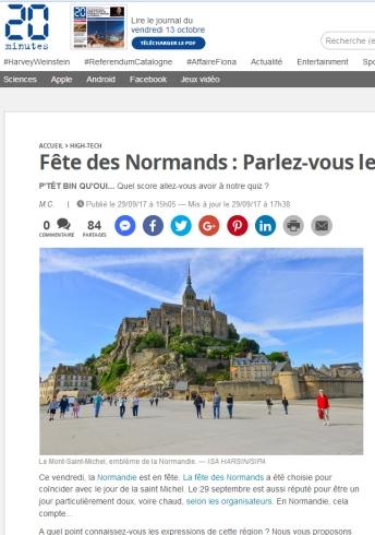 Fête Des Normands 2017, dans les médias.