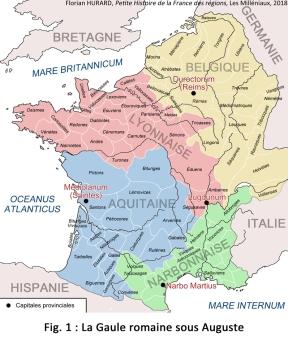 Carte Gaule Auguste (avec cités)