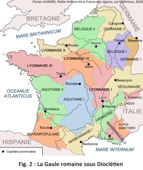 Carte Gaule Dioclétien