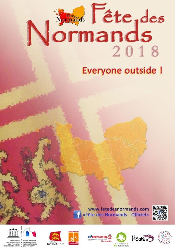 Affiche Fete Des Normands 2018 - anglais (vide)