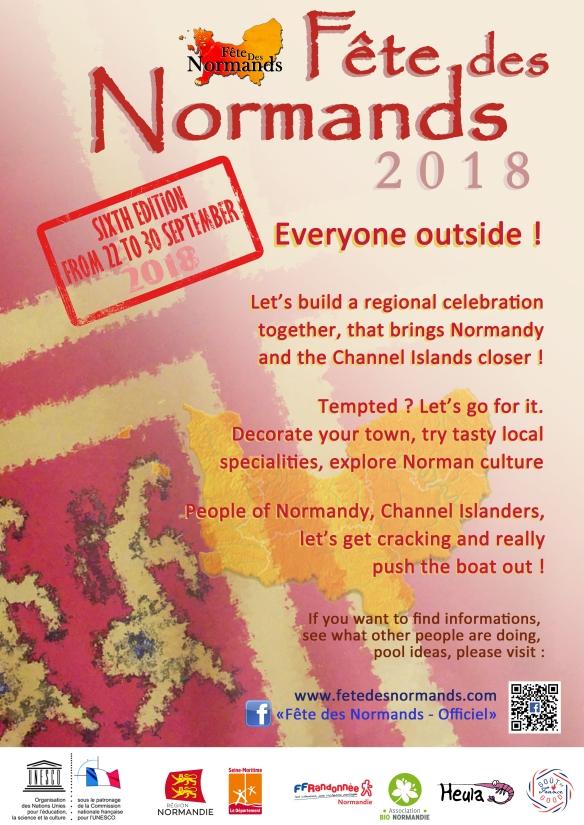Affiche Fete Des Normands 2018 - anglais