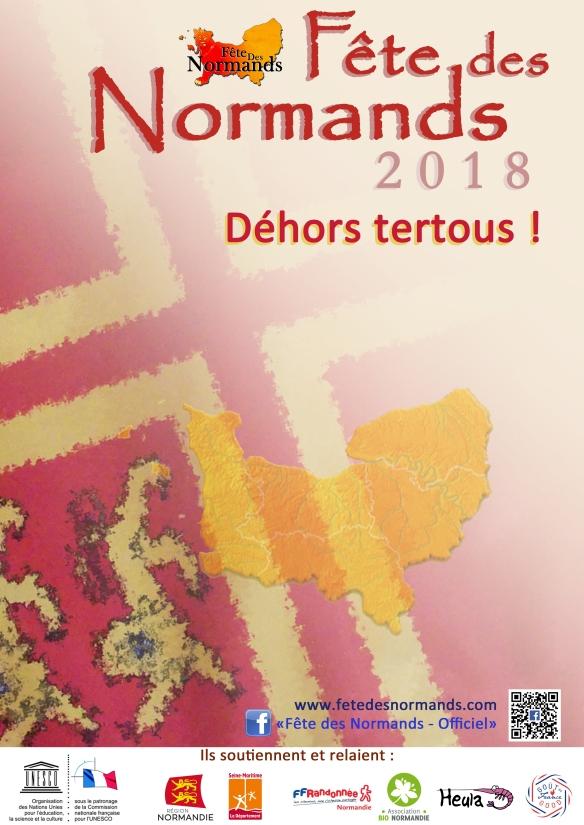 Affiche Fete Des Normands 2018 - normand-francais (vide)