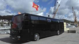 """""""Fête Des Normands - Tous ENSEMBLE ici le bus nommé le """"Drak'car"""" ! Val Rémi Ygo. D'autres drapeaux sortis : https://fetedesnormands.com/2018/09/22/votre-drapeau-normand-de-sortie/"""