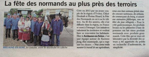 Fête Des Normands à Arelaune, avec toute l'équipe autour de Karinne Jung, élue municipale qui a organisé la fête.