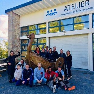 Fête Des Normands 2018 CHERBOURG. Photos Association Au fil de l'eau (association insertion professionnelle), le drakar a été fabriqué grâce à leur chantier d'insertion. https://www.asso-aufildeleau.org/activit%C3%A9s-de-l-association/